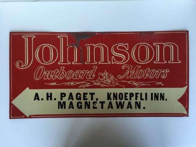 40s Johnson sign